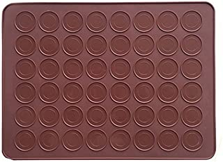 AxeSickle 1pcs Macarons Silicone Mat Baking Mold, Almond muffin chocolate chip cookies 48 Capacity