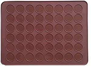 AxeSickle 1pcs Macaron Silicone Mat Baking Mold, Almond Muffin Chocolate chip Cookies 48 Capacity