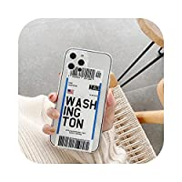 INSラベルレター航空券電話ケース透明シリコンforiphone 11 12 Pro Max XR XS MAX 7 8Plusカバーfundascoque back -15-For iphone 7 8plus