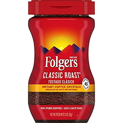Folgers Classic Roast Instant Coffee Crystals, 3 Ounces
