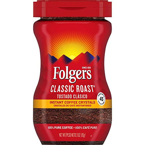 Folgers Classic Roast Instant Coffee Crystals 3 Ounces