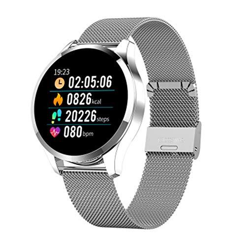 LXZ Q9 Männer Smart-Uhr-wasserdichte GPS-Tracking-Bluetooth Smart Watch Heart Rate Monitor Fitness Tracker Q8 Armband Android IOS,F
