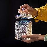 Barattolo in vetro con coperchio, 300 ml, colorato, ermetico, per cucina, feste, tè, spezie, caramelle, biscotti