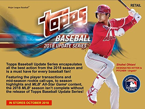 2018 Topps Update Series Baseball Blaster Box (10 Packs/10 Cards + 1 Patch Card)