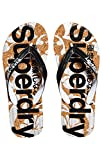 Superdry Printed Cork, Chanclas Mujer, Multicolore (Black/Optic White J40), Small