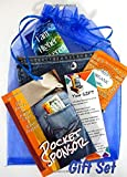 Pocket Sponsor in Jean Pocket Gift Set, 24/7 Clean & Sober 12 Step Support by the Oldtimers of AA and NA with bookmark, mesh gift bag, 12 Step Charm, Tea