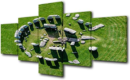 Fifase Cuadro En Lienzo Sala De Estar Cartel Arte De La Pared 5 Piezas Cuadros Modernos para Sala De Estar Stonehenge Wall Art Heritage Site En Englan Paintings 5 Piezas De Lona Decoración para El