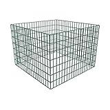 Festnight - Compostiera Metallo Giardinaggio da Giardino Rete Quadrata 100 x 100...