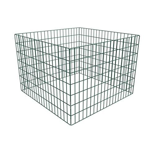 Festnight - Compostiera Metallo Giardinaggio da Giardino Rete Quadrata 100 x 100 x 70 cm