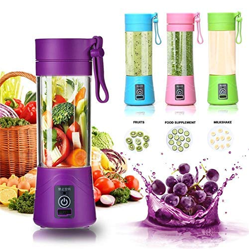TRENDBUY® Rechargeable Portable Electric Mini USB Juicer Bottle Blender for Making Juice, Shakes, Smoothies , Travel Juicer For Fruits And Vegetables , Mixers Grinders Hand Machine (MULTICOLOUR)
