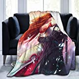 JAIDEN BEATA Sword Art Online Couple Embrace Ultra Soft Sherpa Flannel Fleece Throw Blankets for Bed/Couch/Sofa/Living/Room/Bedroom, Warm Blanket Coral Plush Throw for Kids Adults Women Men 50'' x40