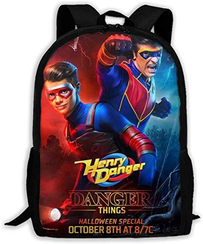 sdfasdfafd Mochilas Escolares de Viaje Danger TV Show of Henry Printed School Backpack Water Resistant Travel Rucksack Bag Laptop Lightweight Backpack Daypack