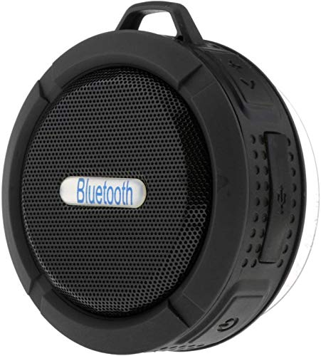 Langguth Mini altavoz impermeable portátil Bluetooth 5 W para ducha, oficina o exterior.