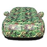 Smaw Auto Abdeckplane Atmungsaktiv Universal SchüTzt Ihr Auto Hagelschutz Wetterfest Hitzeschutz Alle Jahreszeitn Outdoor Kratzfest (Color : Green Camouflage)
