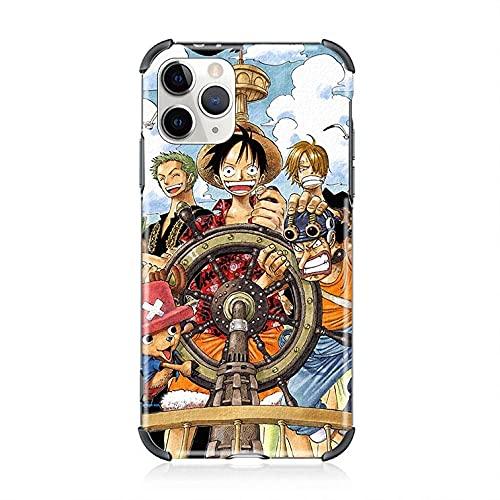 Anime One Piece Luffy Gear 4 Sombrero de Paja 3D Soft Phone Case para iPhone 7 8 Plus X XR XS MAX 11 12 Pro MAX Mini SE 2020 Cartoon Cover-A_iPhone12_Pro