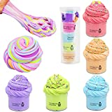 SWZY Slime Fluffy, Putty Slime, Butter Slime, Monstruo Slime, Juguetes de descompresión para niños y Adultos, 5pcs (Rosa / Morado / Azul / Verde / Naranja)