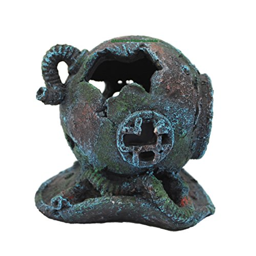 TOP-Angebot ! Aquarium Deko Taucherhelm Taucherglocke 14x13x13 cm