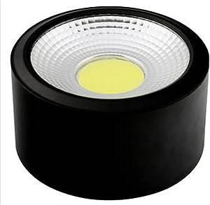 Brightsky 10w Warm White COB LED Lamp Surface Mounted Ceiling Downlight Spotlight Black Housing