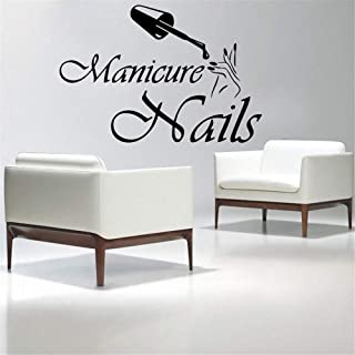 Wall Sticker Lettering Wall Art Sticker Removable Letters Quote Art Fashion Nails Salon Interior Manicure Home Decor