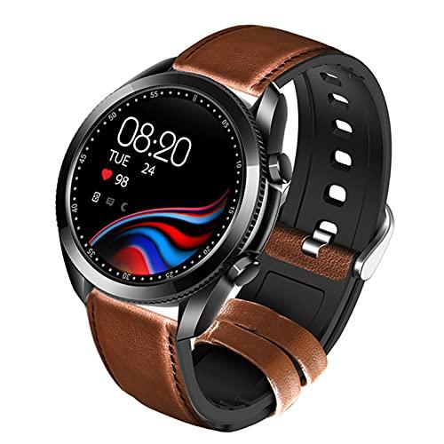 XYZK UM90 Reloj Inteligente Reloj Bluetooth Nuevo Reloj Negro Digital Reloj Impermeable para Android iOS,B