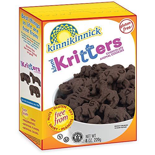 Kinnikinnick Gluten Free KinniKritters Chocolate Animal Cookie, 8oz/220g (Pack of 6)