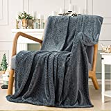 Inhand Fleece Throw Blankets, Super Soft Flannel Cozy Blankets for Adults, Washable Lightweight Fuzzy Blanket for Couch Sofa Bed Office, Throw Size Warm Plush Blankets for All Season (50'×60', Grey)