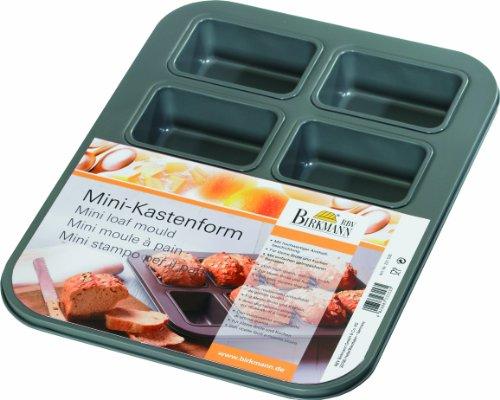 RBV Birkmann 231535 Mini-Kastenform, 8 Formen antihaft, 9x6x3,5cm, 35x27x4cm