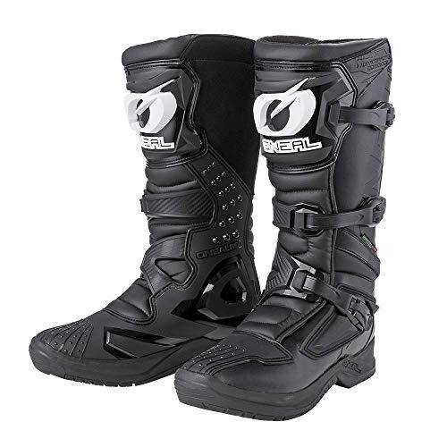 O'NEAL | Motocross-Stiefel | Motorrad Enduro | Innerer Knöchel-, Fuß, und Schaltzonenschutz, Perforiertes Innenfutter, hochwertiger Mikrofaser | Boots RSX | Erwachsene | Schwarz | Größe 47