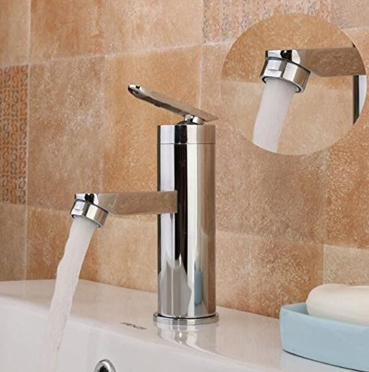 Single Handle Bathroom Hot Cold Water Mixer Faucet Basin Faucet Bathroom Kitchen Platform Attached Brushed Chrome Basin Faucet