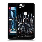 Head Case Designs Oficial HBO Game of Thrones Trono del Dragón Temporada 8 Key Art Funda de Gel Negro Compatible con Google Pixel 2