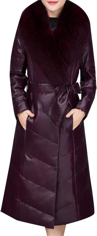 Esast Women's Puffer Down Coat Winter Jacket Faux Fur Trim Puffer Down Overcoat