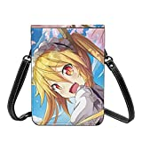 Anime Miss Kobayashi's Dragon Maid Crossbody Bolsas ligeras pequeñas para pasaporte, bolso de piel para mujer, bolsa de playa de viaje