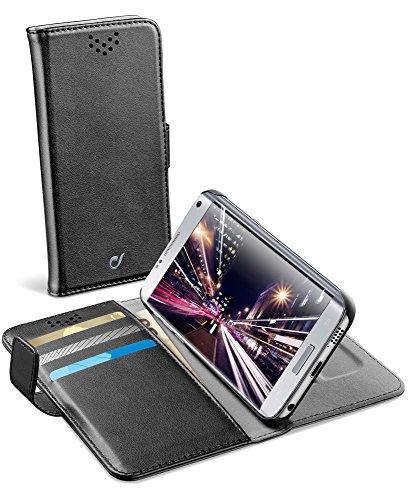 cellularline Book Agenda Schutzhülle für Handy, 14 cm (5,5 Zoll), Schwarz