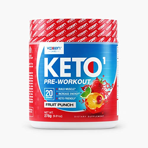 Vaxxen Labs Keto1 Ketogenic Preworkout – 278g, 20 Servings of Natural Caffeine Sources Like Green Tea Extract for Energy, Nootropics for Mental Focus, Pump Ingredients, and BHB to Stay in Ketosis
