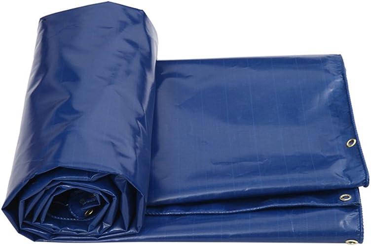 Tarpaulin HUO épaissir La Bache Imperméable Tissu De Pluie Prougeection Solaire Voiture Tissu De Prougeection Anti-poussière Résistant à l'usure, épaisseur 0.5mm, 550 G M2, Bleu (Taille   4  6m)