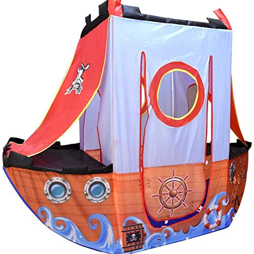 XZPZ Pirate Ship Tent and outdoor Playhouse for Children Playing Ball Pit Tent - Includes 24 balls, camping Playhouse Mini Foldable simulation home outdoor baby
