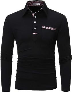 APTRO(アプトロ)ポロシャツ 長袖 メンズ スティッチング スポーツ 綿 ゴルフウェア