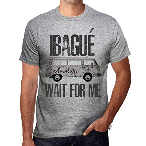 One in the City Hombre Camiseta Vintage T-Shirt Gráfico IBAGUÉ Wait For Me Gris Moteado