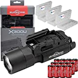 SureFire X300U-A Ultra High Output 1000 Lumens LED Weapon Light with 12 Extra CR123A and 3 Lightjunction Battery Cases