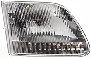 Headlight Headlamp Compatible with 1997-2003 Ford F-Series Pickup Truck F150 F250 Expedition Passenger Right Side Replacement