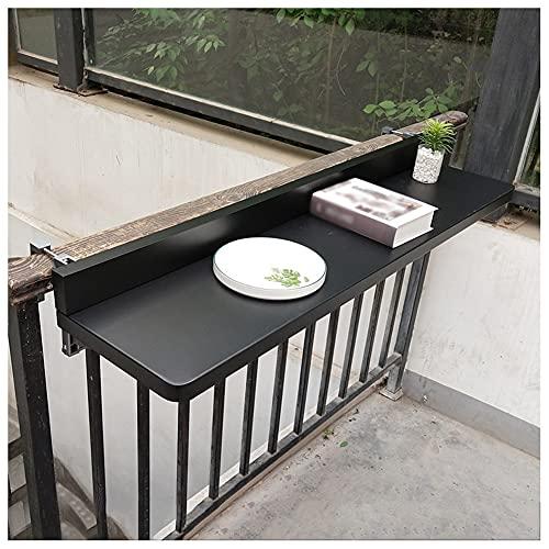 Mesa Barandilla Plegable Balcón, Escritorio De Centro Colgante Patio De Aluminio Ajustable...