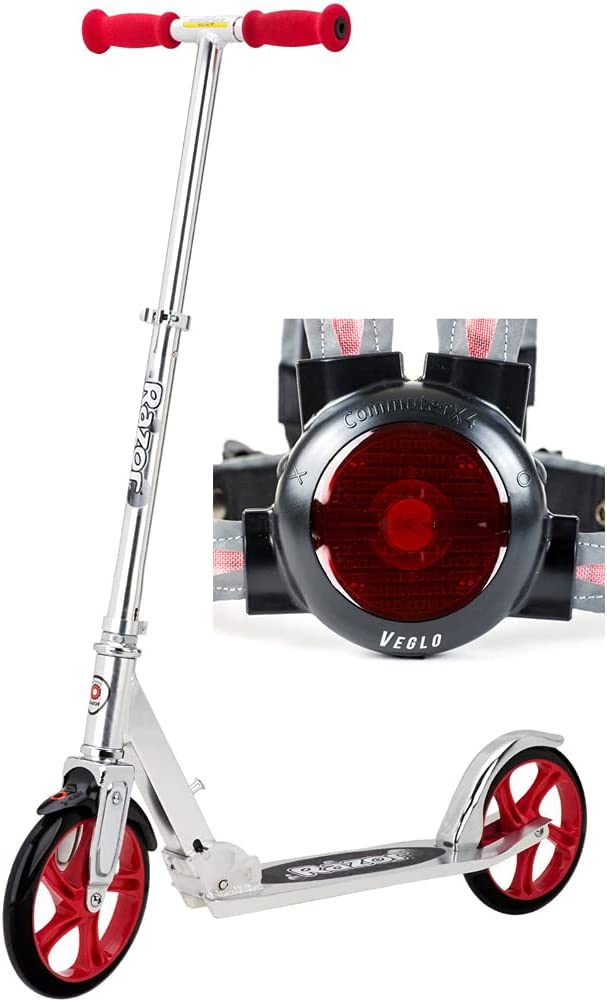 Razor 13013201 A5 Lux Kick Scooter Max 77% OFF Commute Veglo with online shopping Red Bundle