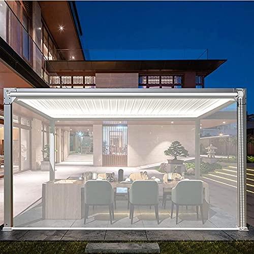 LIANG Tenda A Rullo Trasparente Plastica Balcone Casa, Tenda per Finestra Impermeabile Patio Esterno Raccordi, Montaggio Interno/Esterno (Color : Clear, Size : 155x270cm/61 x106.3)