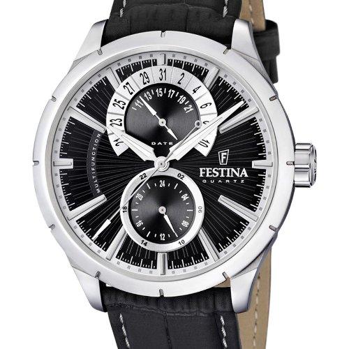 Festina - F16573/3 - Montre Homme - Quartz Analogique - Bracelet Cuir Noir