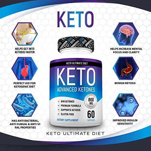 Keto Ultimate Diet - Ketogenic Diet Supplement with Beta Hydroxybutyrate Ketone Salts - Boost Energy and Metabolism - Keto Pills 60Caps 7