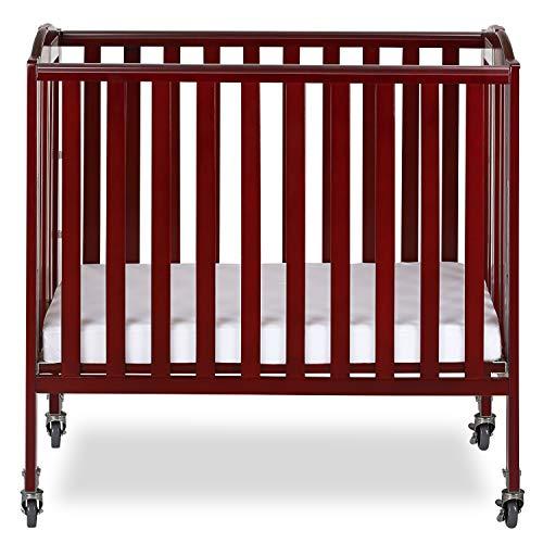 51rPcIgZBHL - Delta Children Mini Baby Crib with Mattress