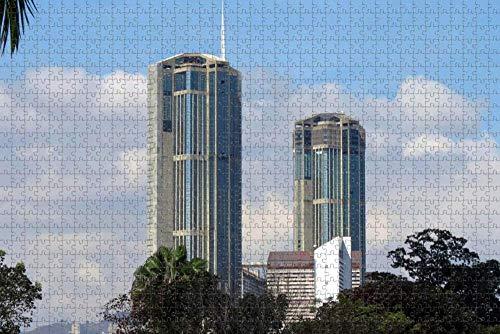 Jigsaw Puzzle for Adults Venezuela Parque Central Caracas Torres Gemelas Puzzle 1000 Piece Wooden Travel Souvenir