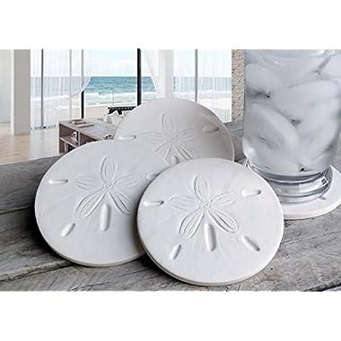 Drink Coasters, Sand Dollar Coasters, Absorbent Coasters, Beach House, Nautical Decor, Home Decor, Tableware, Barware