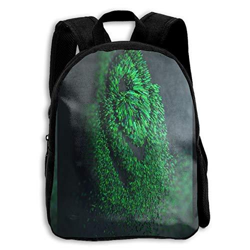 Nvidia Green Logo School Backpack Children Bookbag for Kids