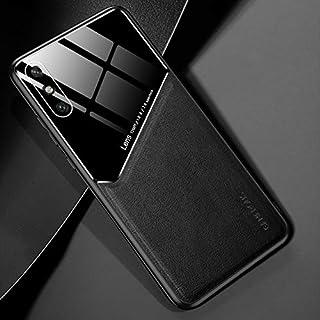 LENASH För Huawei njut av 10e all-inclusive läder + ekologiskt glasskydd med metalljärn Fallskydd (Color : Black)